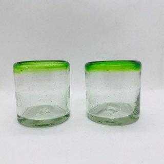 メキシコ リサイクルガラスのコップ ぐい呑 GN