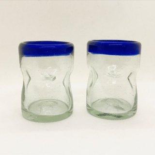 メキシコ リサイクルガラスのコップ ショットグラス NV