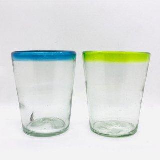 メキシコ リサイクルガラスのコップ ロックグラス