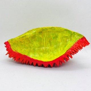 タイ 本物のドリアンの殻のオブジェ ビビッドピンク