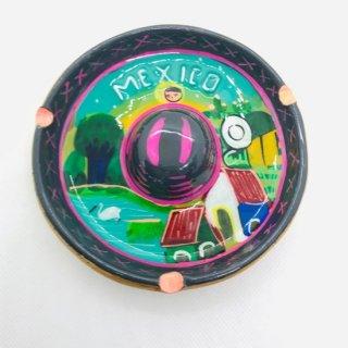 メキシコ ソンブレロの灰皿 陶器 C
