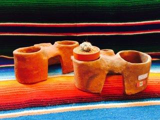 ペルー 素焼きの窯のミニチュア 鉢置き