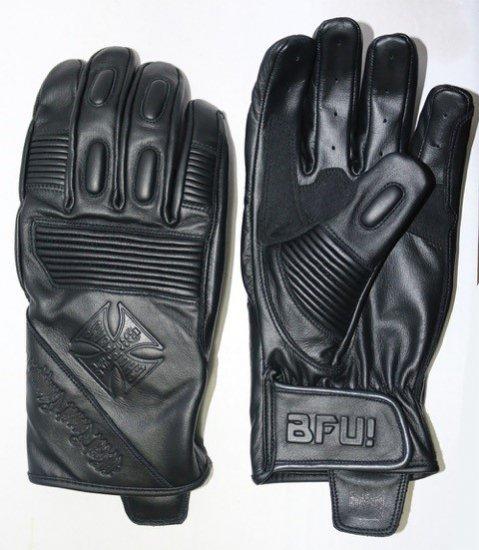 BFU レザーグローブ ブラック