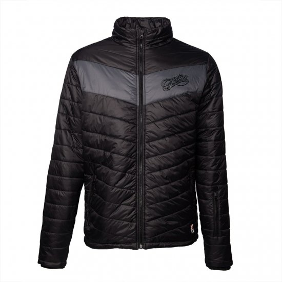 <img class='new_mark_img1' src='//img.shop-pro.jp/img/new/icons16.gif' style='border:none;display:inline;margin:0px;padding:0px;width:auto;' />KIMI SCRIPT LOGO PADDED JACKET - BLACK