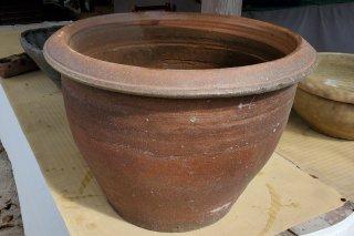 【村長現物】A-35 中国素焼きの水鉢