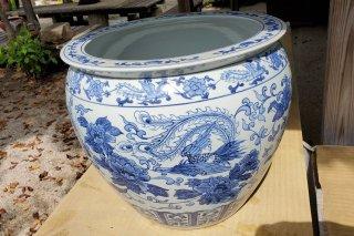【村長現物】A-37 中国景徳鎮水鉢