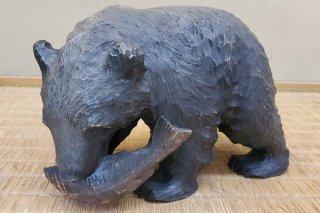 【村長現物】A-82 木彫 熊