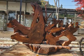 【村長現物】木工4 天然木衝立一枚板
