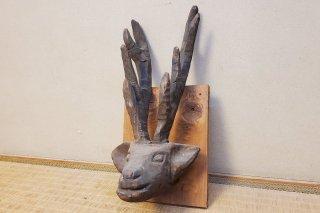 【村長現物】木工37 壁掛けの鹿
