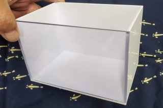 【村長現物】展示水槽 選別水槽 アクリル水槽 小の白 No.1