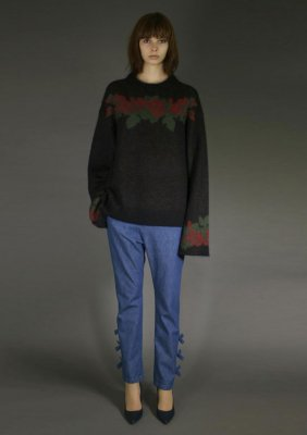 Mohair Knit_ROSE PETALS NO.2 Crewneck