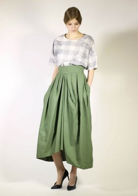 SUPER PINPOINT OXFORD CLOTH SKIRT