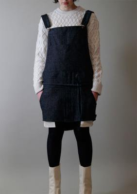 Herringbone Denim Tweed Salopette