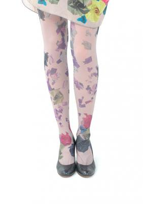 Origami Flower Print tights