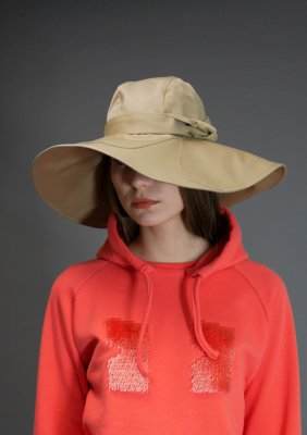 Flower panel Wide Brim Hat