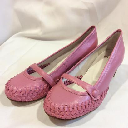 未使用  婦人  合皮パンプス   S   ピンク