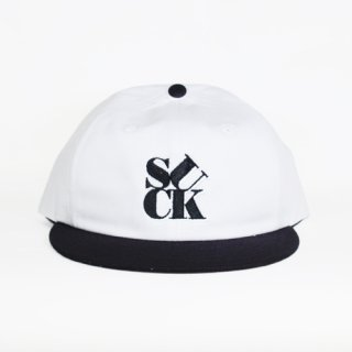 7UNION <br>SUCK SNAPBACK CAP<br>(WHITE/BLACK)