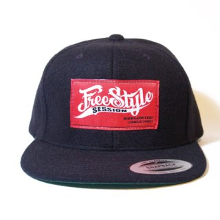 <img class='new_mark_img1' src='//img.shop-pro.jp/img/new/icons34.gif' style='border:none;display:inline;margin:0px;padding:0px;width:auto;' />FREESTYLE SESSION <br>WOOL SNAPBACK (BLACK)