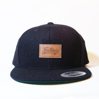 <img class='new_mark_img1' src='//img.shop-pro.jp/img/new/icons34.gif' style='border:none;display:inline;margin:0px;padding:0px;width:auto;' />FREESTYLE SESSION<br> WOOL SNAPBACK <br>(BLACK/LETHER TAG)
