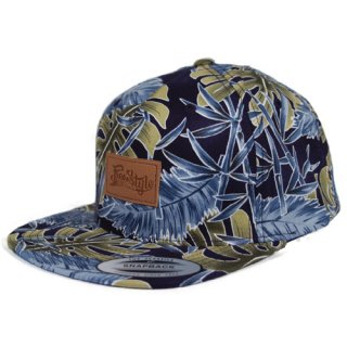 FREESTYLE SESSION <br>TROPICAL SNAPBACK<br> (NAVY)