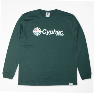 CYPHER CODE LONGSLEEVE T-SHIRT(TOPNATION限定カラー:IVY GREEN)<img class='new_mark_img2' src='//img.shop-pro.jp/img/new/icons47.gif' style='border:none;display:inline;margin:0px;padding:0px;width:auto;' />