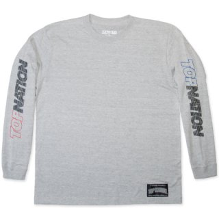 TOPNATION<br> PINSTRIPED  L/S T-SHIRT<br> (GRAY)