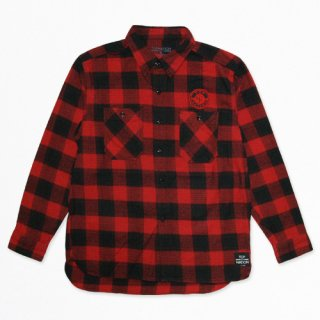 TOPNATION <br>SINCE97 FLANNEL SHIRT<br>(RED)
