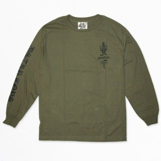 DSTRY DAGGER <br>LONGSLEEVE T-SHIRT<br>(ARMY GREEN)<img class='new_mark_img2' src='//img.shop-pro.jp/img/new/icons47.gif' style='border:none;display:inline;margin:0px;padding:0px;width:auto;' />