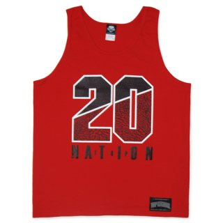 TOPNATION 20 CONCRETE TANKTOP (RED)