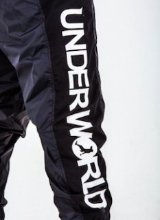 UNDER WORLD LOGO <br>F3-Windproof trousers PANTS<br>(BLACK/WHITE)<img class='new_mark_img2' src='//img.shop-pro.jp/img/new/icons47.gif' style='border:none;display:inline;margin:0px;padding:0px;width:auto;' />