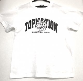 <img class='new_mark_img1' src='//img.shop-pro.jp/img/new/icons1.gif' style='border:none;display:inline;margin:0px;padding:0px;width:auto;' /> TOPNATION R>A>E TN DOG T-SHIRT (WHITE)
