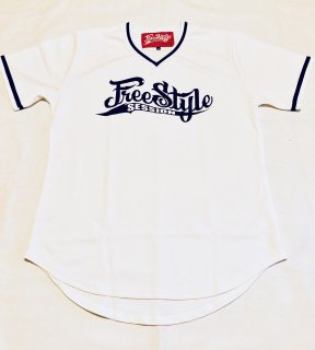 <img class='new_mark_img1' src='https://img.shop-pro.jp/img/new/icons1.gif' style='border:none;display:inline;margin:0px;padding:0px;width:auto;' />FREESTYLE SESSION <br>BASEBALL JERSEY<br>(WHITE)