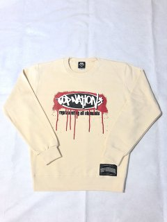 <img class='new_mark_img1' src='https://img.shop-pro.jp/img/new/icons1.gif' style='border:none;display:inline;margin:0px;padding:0px;width:auto;' />TOPNATION OG SPRAY LOGO<br>CREWNECK SWEATER<br> (CREAM)