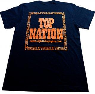 TOPNATION STAMP<br>T-SHIRT (BLACK/ORANGE)