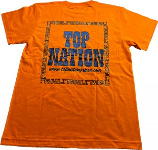 TOPNATION STAMP<br>T-SHIRT (ORANGE/BLACK)