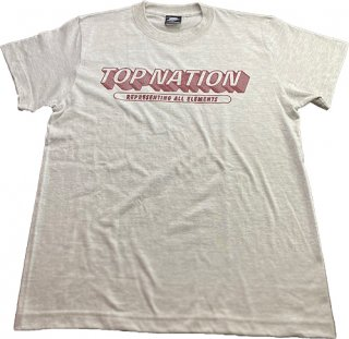 TOPNATION WAVE LOGO<br>T-SHIRT (OATMEAL/MAROON)