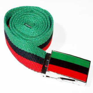 RED, BLACK & GREEN WEB BELT