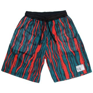 <img class='new_mark_img1' src='//img.shop-pro.jp/img/new/icons20.gif' style='border:none;display:inline;margin:0px;padding:0px;width:auto;' />7UNION ANTHOLOGY GAME BOARD SHORTS (GREEN&RED)