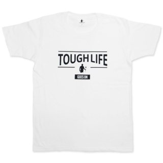 TOUGH LIFE TOUGH UPPER T-SHIRT(WHITE)<img class='new_mark_img2' src='//img.shop-pro.jp/img/new/icons47.gif' style='border:none;display:inline;margin:0px;padding:0px;width:auto;' />