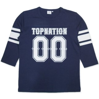 TOPNATION <br>00 FOOTBALL 7 PARTS <br>LENGTH T-SHIRT(NAVY)