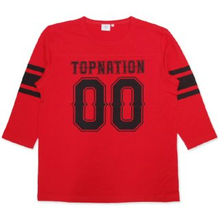TOPNATION <br>00 FOOTBALL 7 PARTS <br>LENGTH T-SHIRT(RED)