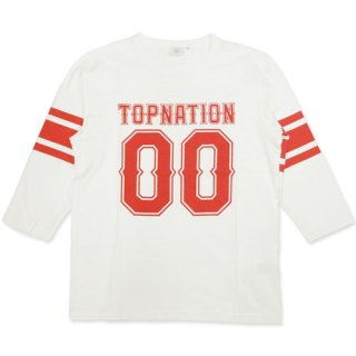 TOPNATION <br>00 FOOTBALL 7 PARTS <br>LENGTH T-SHIRT(WHITE)