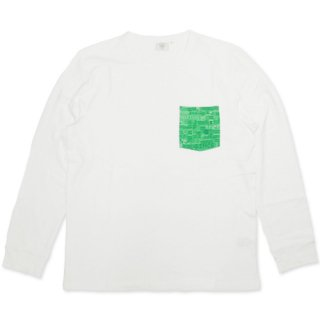 TOPNATION <br>TN Base POCET L/S T-SHIRT<br>(WHITE)