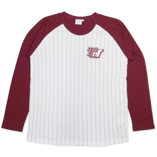 TOPNATION <br>STRIPE RAGLAN SHIRT <br>(WHITE×MAROON)<img class='new_mark_img2' src='//img.shop-pro.jp/img/new/icons47.gif' style='border:none;display:inline;margin:0px;padding:0px;width:auto;' />