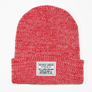 7UNION 7s Heather BEANIE (RED)