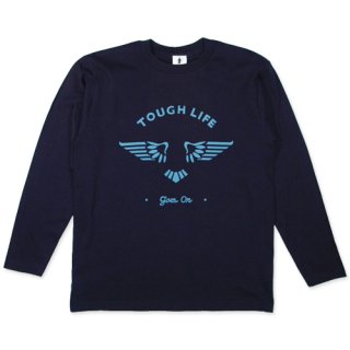 TOUGH LIFE WING L/S T-SHIRT (NAVY)