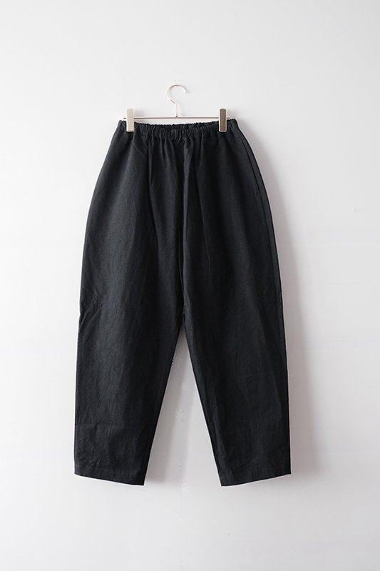 Tapered pants(+10cm)/black