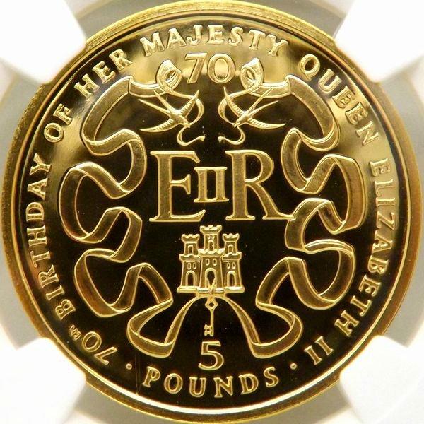 【在庫品】金貨 イギリス 1996 エリザベス2世 生誕70周年記念 5ポンド NGC PF69UC 最高鑑定
