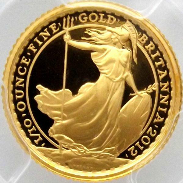 金貨 イギリス 2012 ブリタニア 10ポンド PCGS PR70DCAM FS 最高鑑定