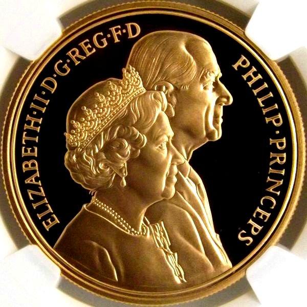 【在庫品】イギリス 1997年 5ポンド 金貨 ロイヤルウェディング 50周年記念 NGC PF69UC 限定2750